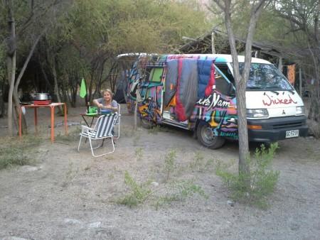 Camping am Fluss im Valle de Elqui
