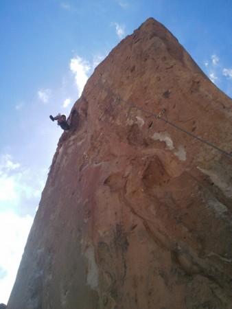 Wow, klettern bei Socaire (Atacama CL)