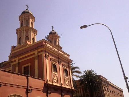 Eine der Kirchen in Santiago