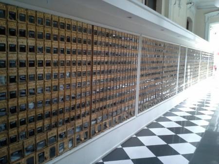Postfaecher auf der Hauptpost in Santiago