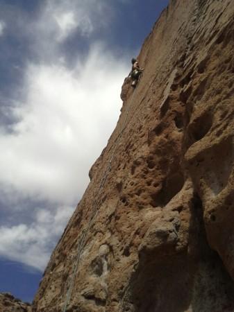 Blauer Himmel, roter Fels und schön warm = TOP