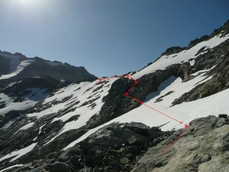 Nach erfolgreicher Durchquerung des Tals durch Flussbett und Dickicht nun noch ein bisschen über Schnee und Eis