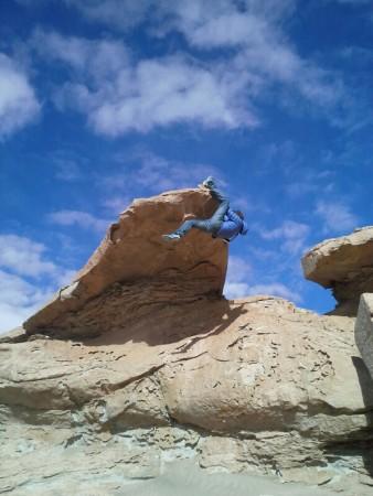 Wo ein Boulder, da ein Hansi (Altiplano Bolivien)