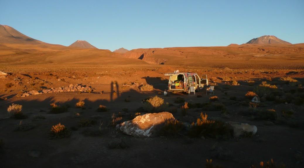 Campground beim klettern in der Atacamawüste