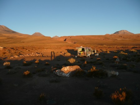 Campground beim klettern in der Atacamawüste