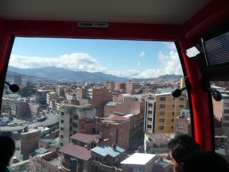 Blick aus der Kabine der Linea Rojo