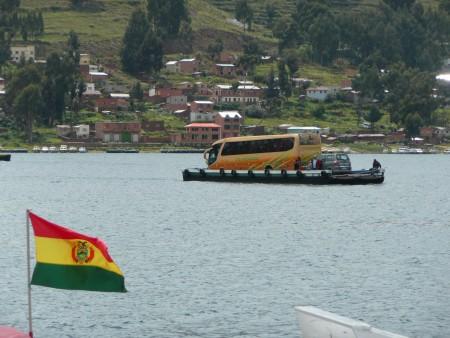 Faehre ueber einen Arm des Titicacasees