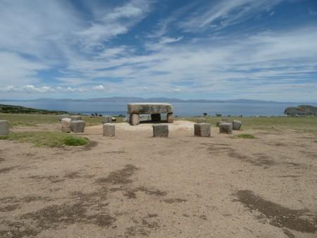 Opfertisch auf der Isla del Sol