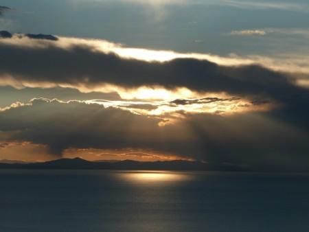 Sonnenuntergang am Titicacasee