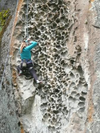 Wabenstrukturen wie im Sandstein